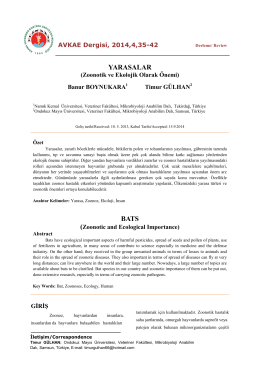 Makaleyi İndir - Veteriner Kontrol Enstitüsü Müdürlükleri
