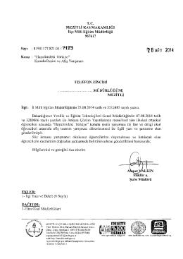 f28 ACU 2014 - mersin - mezitli ilçe millî eğitim müdürlüğü