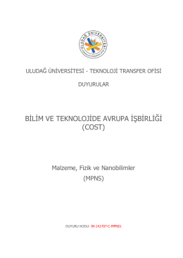 MPNS - Uludağ Üniversitesi Teknoloji Transfer Ofisi