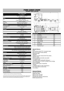 2526D Teknik özellikleri