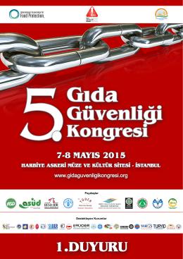 davet - 5. Gıda Güvenliği Kongresi