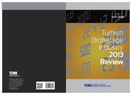 Turkish Brokerage Industry 2013 Review (May 2014)