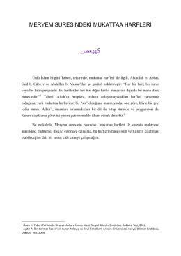Meryem Suresi - Alimallah.net