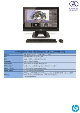 HP Hepsi Bir Arada İş İstasyonu Z1 G2 (WM663EA)