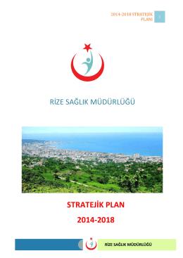 2014-2018 stratejik planı - Rize İl Sağlık Müdürlüğü