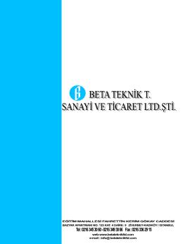 BETA TEKNİK T. SANAYİ ve TİCARET LTD.ŞTİ.