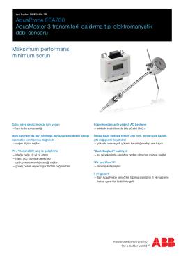 AquaProbe FEA200 AquaMaster 3 transmiterli daldırma tipi