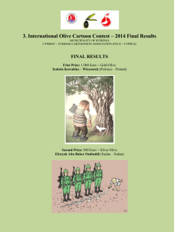 3. International Olive Cartoon Contest – 2014 Final Results