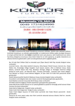 DUBAI 2014 - ditib