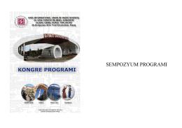 Program - URSI Turkiye Ulusal Komitesi