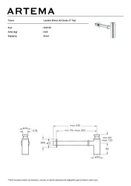 Tanım Lavabo Sifonu Alt Grubu (T Tipi) Kod :A45123 Aırlık