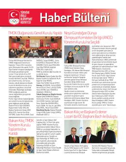 Haber BülteniAralık 2014 - Türkiye Milli Olimpiyat Komitesi