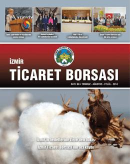 itb dergi - son sayı - İzmir Ticaret Borsası
