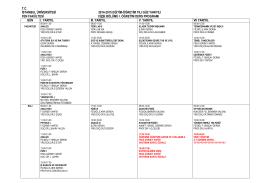tc istanbul üniversitesi 2014-2015 eğitim-öğretim yılı
