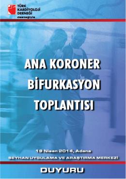 bilimsel program - Ana Koroner Bifurkasyon Toplantısı