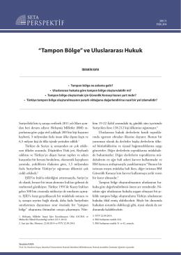 """""""Tampon Bölge"""" ve Uluslararası Hukuk [PDF]"""