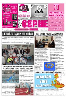 15.11.2014 Tarihli Cephe Gazetesi