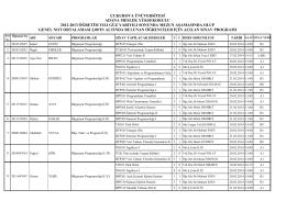çukurova ünüversitesi adana meslek yüksekokulu 2012-2013
