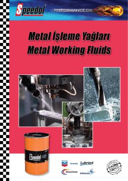 Metal İşleme Yağları Kataloğu (PDF indir)