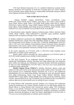 04 haziran 2014 tarihli meclis karar özeti