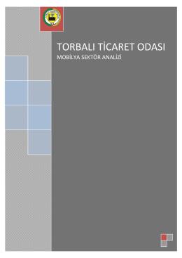 Mobilya Sektör Analizi - Torbalı Ticaret Odası