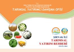 sirnak - TC Gıda Tarım ve Hayvancılık Bakanlığı