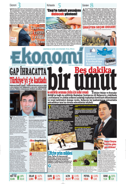 6 MART 2014 - Ekonomi Gazetesi