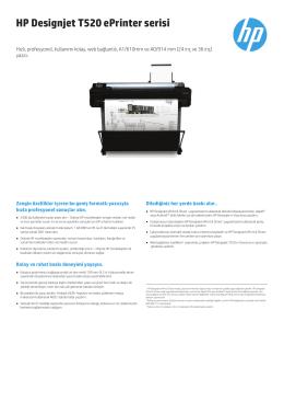 HP Designjet T520 ePrinter serisi
