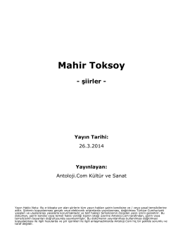 Mahir Toksoy - Antoloji.Com
