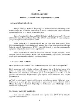 Genel Müdürlük Duyuru Yazısı - Başhukuk Müşavirliği ve