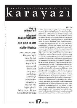 sayı 17 - karayazı edebiyat