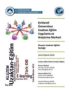 Kırklareli Üniversitesi Uzaktan Eğitim Uygulama ve Araştırma