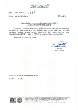3 0 buu 2014 - tarsus ilçe millî eğitim müdürlüğü