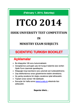 ISHIK UNIVERSITY TEST COMPETITION IN MINISTRY EXAM