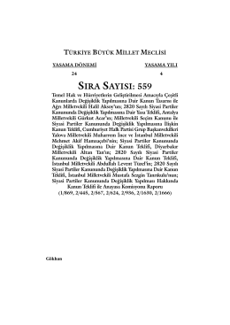 559 - Kanunlar Genel Müdürlüğü