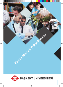 okulun tanıtımı - Kazan Meslek Yüksekokulu