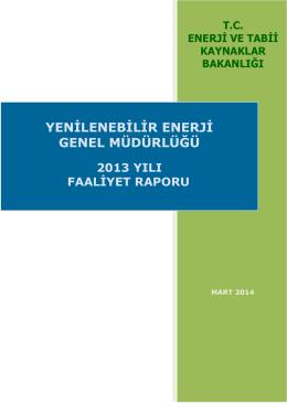 2013 Faaliyet Raporu - Elektrik İşleri Etüt İdaresi Genel Müdürlüğü