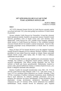 ELTUT, Nükhet-1877-1878 OSMANLI-RUS SAVAŞI VE İKİ