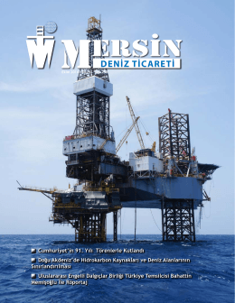 Deniz Ticareti Dergisi Ekim 2014 Sayısı