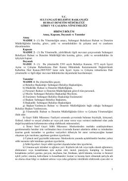t.c. sultangazi belediye başkanlığı ruhsat ve denetim müdürlüğünün
