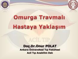 Omurga Travmalı Hastaya Yaklaşım - Acil Tıp Anabilim Dalı Ana Sayfa