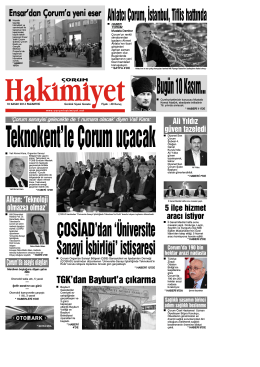 (10 kas\375m.qxd) - Çorum Hakimiyet Gazetesi