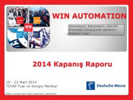 WIN AUTOMATION 2014 Kapanış Raporu