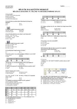 excel test soruları-1