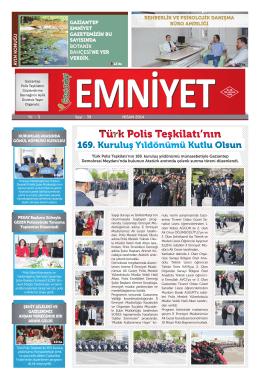 Nisan 2014 Sayı: 39 Yıl:3 - Gaziantep Emniyet Müdürlüğü