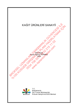 13-Kağıt karton imalatı destek alan KOSGEB Girişimci İş Planı