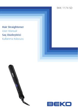 Hair Straightener User Manual Saç Düzleştirici Kullanma