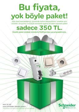 yok böyle paket! - Schneider Electric