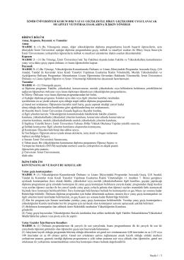 Sayfa 1 / 3 İZMİR ÜNİVERSİTESİ KURUM DIŞI YATAY GEÇİŞLER
