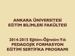 ankara üniversitesi eğitim bilimleri fakültesi öğretmenlik sertifika